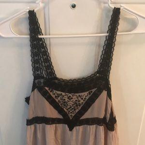 Topshop Dresses - TopShop Womens Cream & Black Lacey Dress